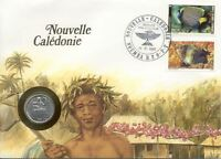 Enveloppe NUMISBRIEF NLLE CALEDONIE NEW CALEDONIA pièce monnaie 1 FR 1981 NEW