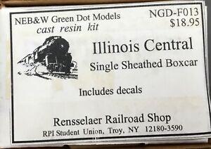 NEB&W Green Dot kit F013 Illinois Central single-sheathed box car