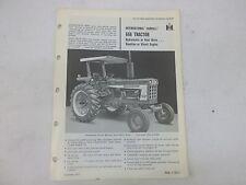 International Harvester Farmall 666 Tractor Sales Brochure