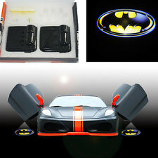 2x Wireless batman badge shield car door LED projector welcome logo shadow light