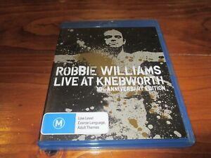 ROBBIE WILLIAMS - LIVE AT KNEBWORTH 10th ANNIVERSARY + MANUAL -  BLU RAY