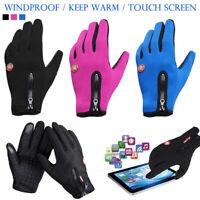 Winter Warm Gloves Women Men Windproof Thermal Touch Screen Anti-slip Bike Fish