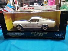 ERTL AMERICAN MUSCLE 1967 SHELBY GT-500 (RARE WHITE) 1OF4,998  1:18 (SCALE)  NEW