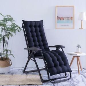 """61""""X19"""" Chaise Lounger Cushion Pad Lounge Rocking Patio Recliner Chair Sofa Mat"""