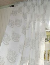 Vorhang ANTONIA SAND Gardine 140x240 2 Stück Shabby Chic Brocante Vintage