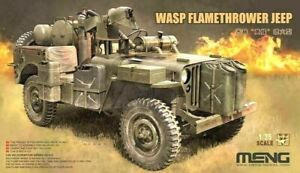 Meng Modèles 1:3 5 MB Jeep Military Vehicle With Wasp Flamethrower Modèle Kit