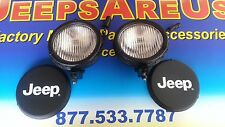 1997 to 2004 TJ Jeep Wrangler Fog Light Foglight SET 2 OEM MOPAR NEW FACTORY