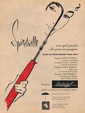 ▬► PUBLICITÉ ADVERTISING AD Parapluie SAUVAGNAT 1957