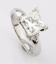 14k White Gold Princess Diamond Solitaire Engagement Ring (2.11 ct, Size 5)