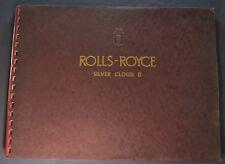 1960-1961 Rolls Royce Silver Cloud II Prestige Brochure Excellent Original