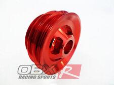 OBX Aluminum Crank Pulley For 94 95 96 97 98 99 00 01 Integra 1.8L B18B B18C Red