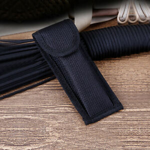 Black Nylon Pouch Sheath Bag For Folding Knife Tool Back Belt Clip Case Portable