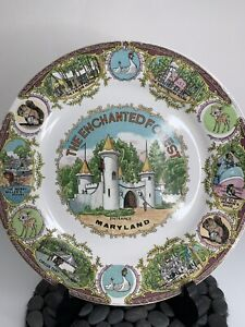Enchanted Forest Amusement Park Maryland Collector Plate,  Rare Made In Japan
