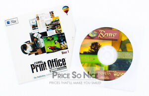 Corel Print Office 2000 AND Bravo Disc Publisher -MAC
