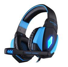 Gaming Headset PC Laptop + Microphone PRO Gamer EACH G4000 BASS Spiel Kopfhörer