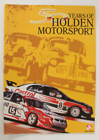 50 Years Of Holden Motorsport Booklet ATCC V8 Supercars Memorabilia New