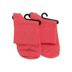 Hue Women Cotton Body Socks 2-Pair Honeysuckle One Size 2279