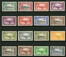Sierra Leone  1938-44  Scott # 173-186  Mint Hinged Set