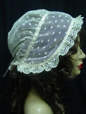 Lace Pilgrim Colonial Regency Civil War womens Cap Made in USA  NEW