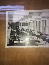 8 X 10 Black-And-White Photo Of Women Working In Office In The Mid-1940S.