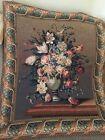 """Flanders Tapestries, Belgium, Breughel,  Tapestry Vase with Flowers, 37"""" by 43"""""""