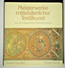 BOOK Masterpieces of Medieval Textile Art German embroidery Italian velvet silk