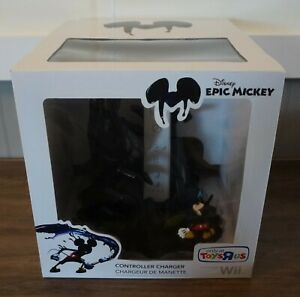 New! Disney Epic Mickey Controller Charger for Nintendo Wii by PDP *Read Listing