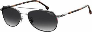 CARRERA CARRERA 224/S 6LB 9O Sunglasses Ruthenium Frame Grey Shaded Lenses 58mm