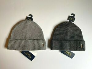 NEW Polo Ralph Lauren Signature Pony Wool Blend Cuff Beanie Hat