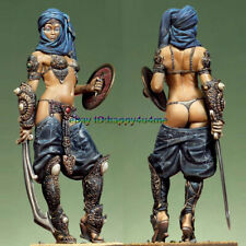 Resin 75mm Female Warrior Garage Kits Unpainted GK Figure Model Sexy Lady Statue