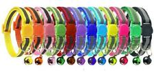 Cluos 12 PACK Reflective Cat Collars Quick Release with Bell Safety Nylon Kitten