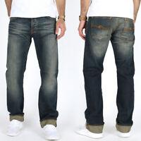 Nudie Herren Regular Straight Fit Bio Denim Jeans Hose | Average Joe Sharp Used