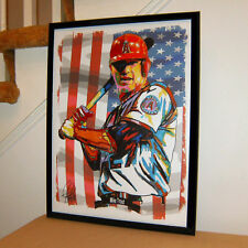 Mike Trout Los Angeles Angels of Anaheim Baseball Poster Print Wall Art 18x24