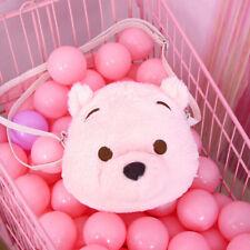 Lovely Cherry Pink Pooh Bear Plush Dolls Messenger Bag Shoulder Bags