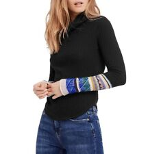 NWT Free People Mixed Up cuff Thermal Top Retail $68