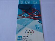 Juegos Olímpicos de Londres 2012 Remo boleto original 2nd agosto GB plata -! como Nuevo!