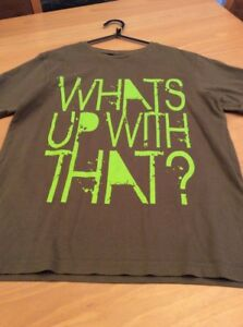 boys clothes 11-12 years George Khaki Green Cotton What's Up With That? Top