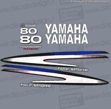 Adesivi calandra motore marino fuoribordo Yamaha 80 cv F80 gommone barca