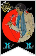 Elvis Presley 1975 vegas banner REPRODUCTION poster print 3 SIZES