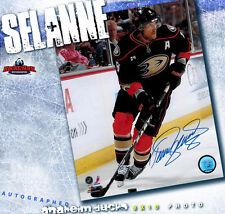 TEEMU SELANNE Anaheim Ducks Autographed 8x10 - 70010