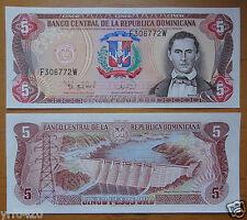 Dominican Banknote 5 Pesos 1995 UNC