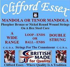 MANDOLA/TENOR MANDOLA STRINGS. HEAVY GAUGE. DOUBLE STRUNG. MADE IN THE UK.