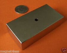 1 Grade N42 3x1.5x3/4 Inch Rare Earth Neodymium Block Magnet with 3/16 Inch Hole