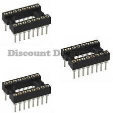 3x dil-16 / DIP16 qualità precisione / trasformato PIN Open Frame PCB 16 modo IC Socket
