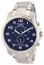 NEW SECTOR R3273689135 MEN'S BLUE CHRONOGRAPH SPORT WATCH BLACK EAGLE