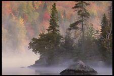 199023 mañana Mist Lago Manitou Quebec A4 Foto Impresión