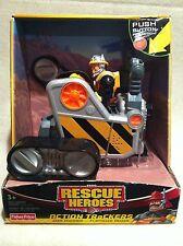 Rescue Heroes  Action Trackers Jack Hammer & Fliptrack Dozer Factory Sealed!