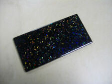 GLASS BRICK WALL TILES - 'INFINITY' GLITTER BLACK - 8mm THICK - SOLD PER PIECE