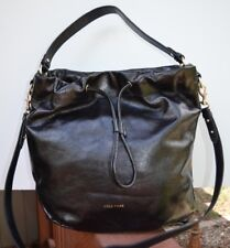 Cole Haan 'Stagedoor' Small Studio Blk Leather Shoulder Bucket Bag NWT MRSP $380