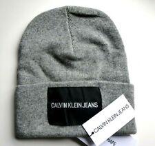 a8d7b281bc4 CALVIN KLEIN JEANS Grey Marl Wool   Cashmere BEANIE Toque Hat TAG New